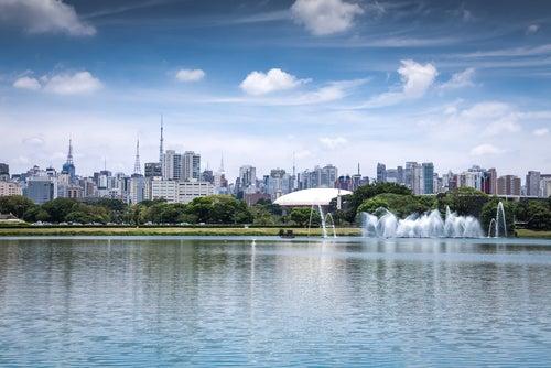 Parque de Ibirapuera en Brasil
