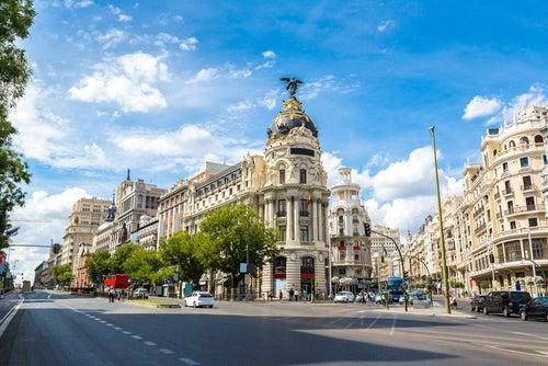 Edificio Metropolis en la Gran Vía de Madrid