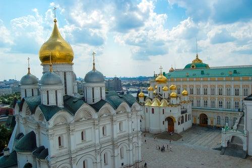 Catedral del Arcángel Miguel en el Kremlin de Moscú