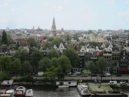 Vista de Ámsterdam desde la Biblioteca Pública