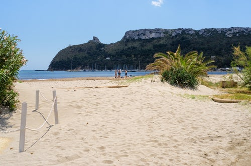 Playa el Poetto en Cagliari