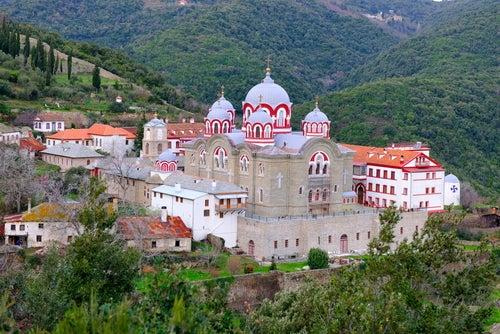 Monasterio Griego en el Monte Athos