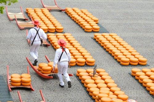 Mercado de queso de Alkmaar en Holanda
