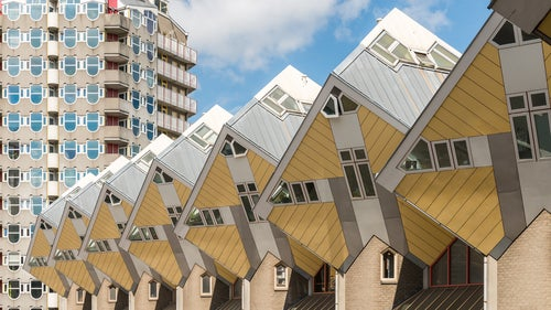 Yellow Cube Houses Rotterdam