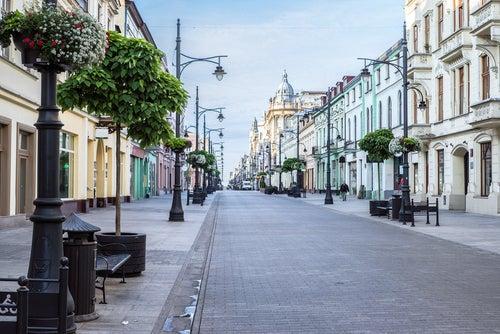 Lodz en Polonia