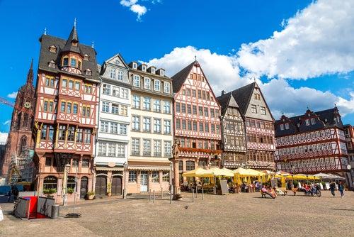Romerberg en Frankfurt
