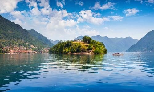Isla Comacina en lago Como