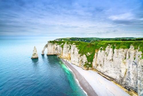 Acantilados de Étretat en Francia