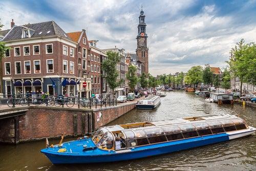Westerkerk en Ámsterdam