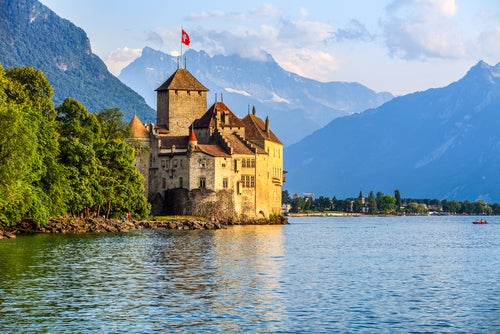 Castillo de Chillon en Suiza