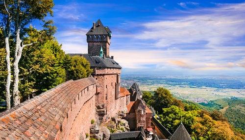 Castillo Haut-Koenigsbourg en Alsacia