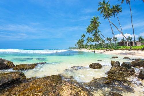 Playa Unawatunna en SriLanka