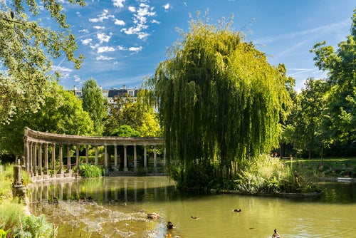 Parque Monceau en París