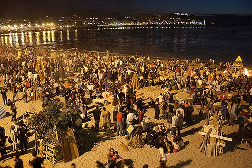 Playa de Orzán en A Coruña