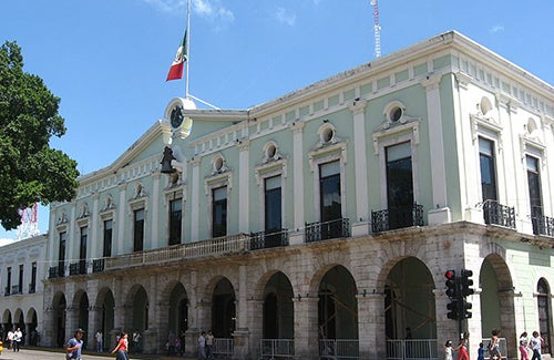 Palacio deGobierno en Mérida México
