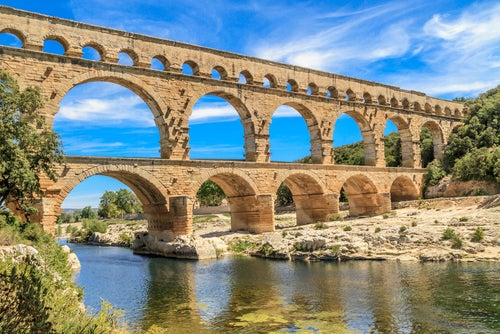 Acueducto romano en Nimes