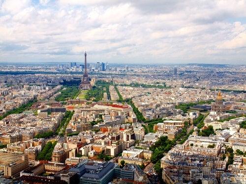Vistas desde la torre de Montparnasse de París