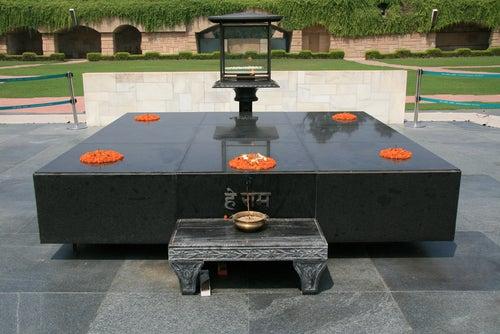 Raj Ghat en Delhi