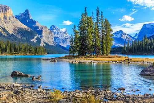Lago Maligne en Canadá