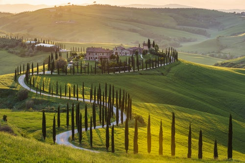 Paisaje toscano en Italia