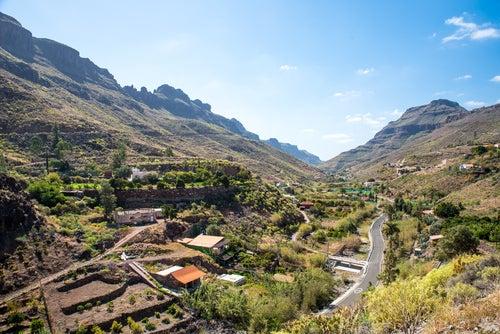 Valle de Ayagaures en Gran Canaria