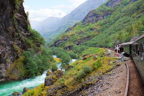 Tren de Flam en Noruega