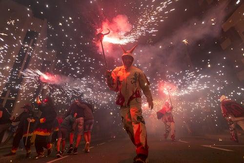 Baile de diablos en Tarragona