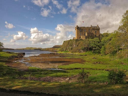 Castillo de Dunvegan en Escocia