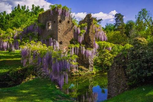 Jardín de Ninfa en Italia