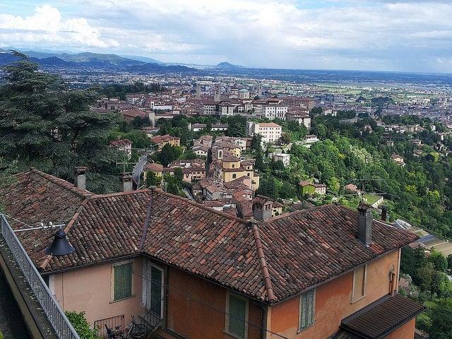 Vista desde San Vigilio en Bérgamo