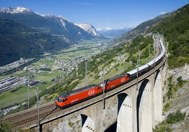 Tren en Arlberg