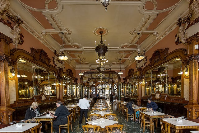 Café Majestic en Oporto