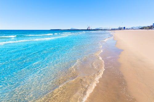 Playa de Gandía ene la costa valenciana
