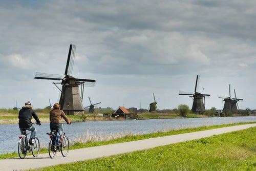 Ruta de los molinos en bicicleta