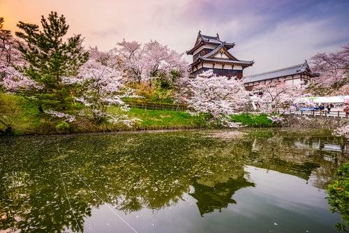 Nara en Japón,castillo Koriyama
