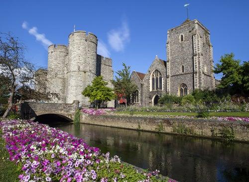 Río Stour en Canterbury