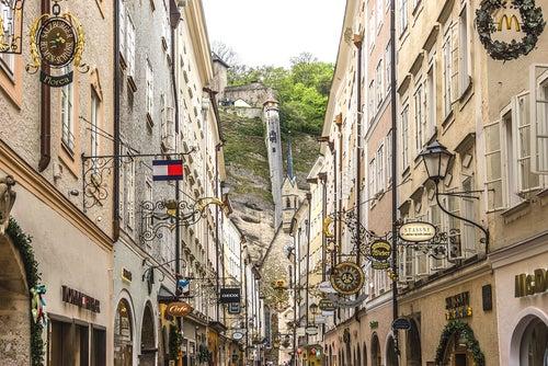Getreidegasse en Salzburgo