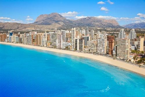 Playa de Levante en la costa valenciana
