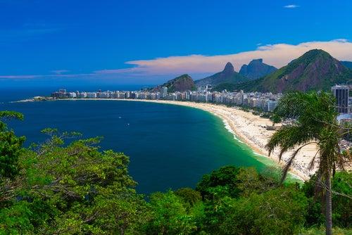 Playa de Copacabana en Río de Janeiro
