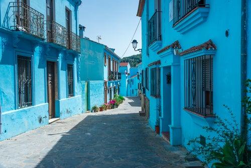 Júzcar en el interior de Málaga