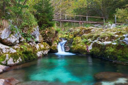 Río Isonzo en Eslovenia