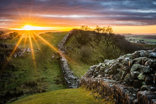 La Muralla de Adriano en Inglaterra, una construcción magnífica