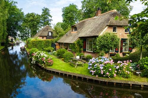 Casas de Giethoorn en Países Bajos