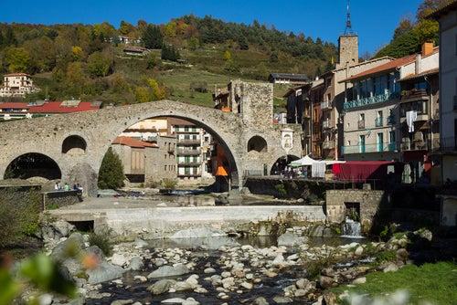 Camprodon en Pirineos catalanes