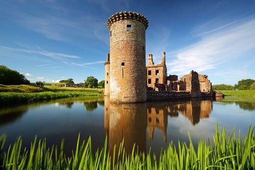 Castillo de Caerlaverock en Escocia