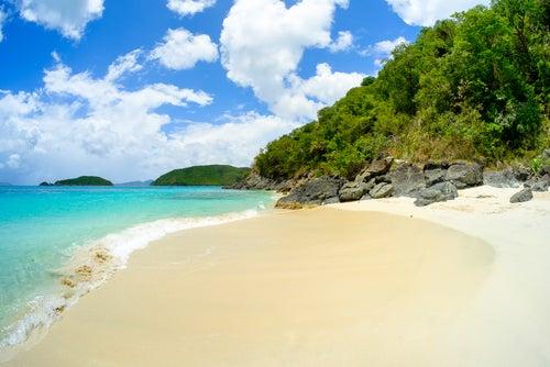 Isla Saint John en el Caribe