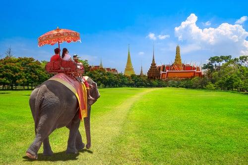 Persons con el virus de los viajes en Tailandia