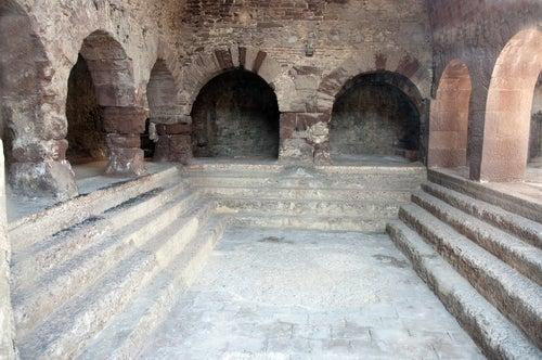 Baños romanos en Caldes de Montbui en Barcelona