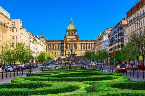 Plaza Wenceslao en Praga