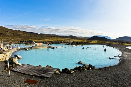 Lago Mivatn en Islandia